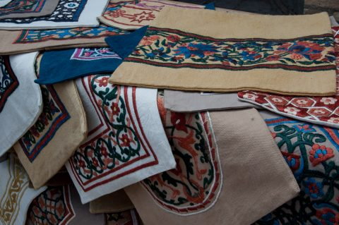 Embrodered covers, Khiva
