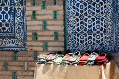 Shoes at Juma Mosque, Khiva