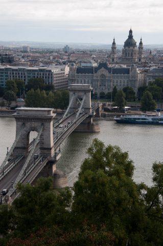 Chain Bridge over Danube from Buda district
