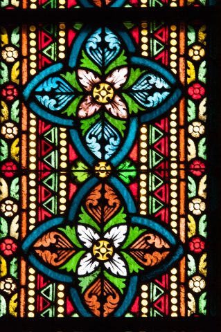 Stained glass, St Mathias Curch, Buda,