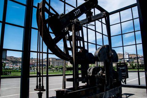 BibiheyBet Oil Field, Baku - derrick from 2005