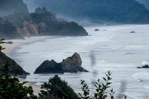 Oregon coast south of Cannon Beach