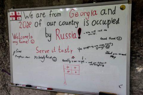 Georgian protest notice