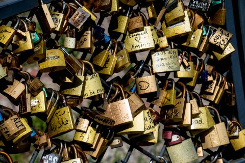 Locks on bridge, Old Town, Tbilisi