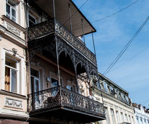 Old Town balconies, Tbillisi