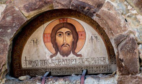 Anchiskhati Basilica - entrance, Tbilisi