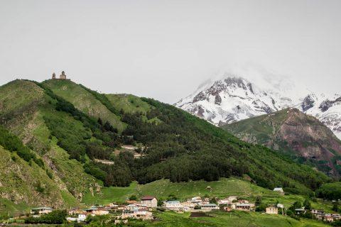 Holy Trinity Church, & Mt Kazbek