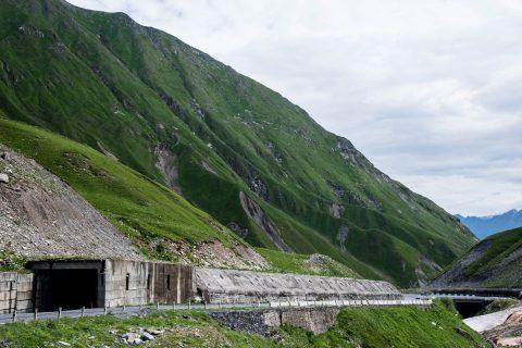 Winter tunnels, near Kazbek