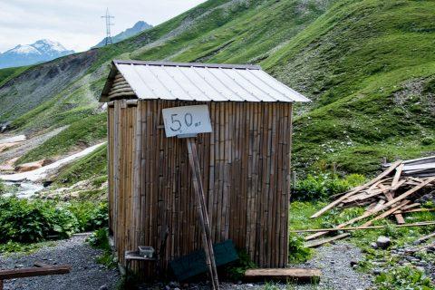 Roadside toilet, near Kazbek