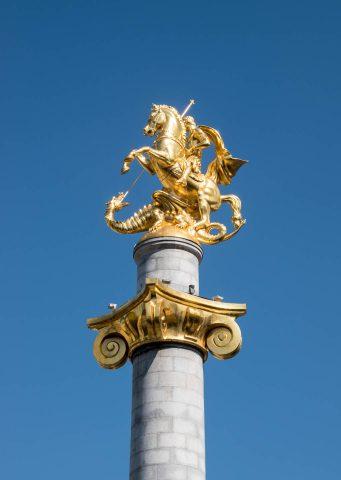 St George & dragon, Freedom Square, Tbilisi