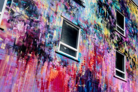Abstract mural, Eureka, California