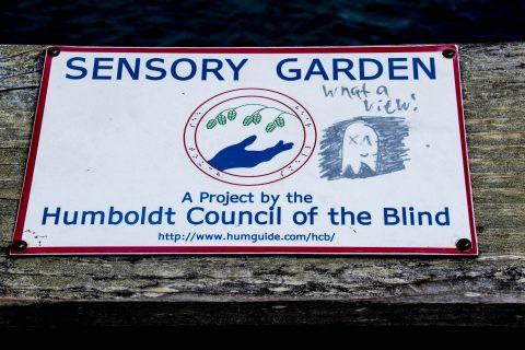 Garden sign, Eureka, California