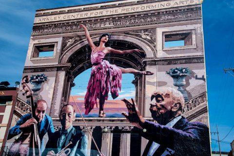 Duane Flatmo mural on Opera House, Eureka, California