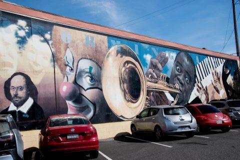 Performing Arts Mural by Randy Spicer, Eureka, California