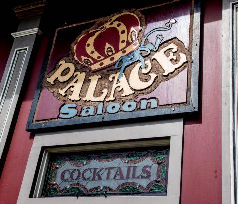 Palace Saloon sign, Ferndale, California