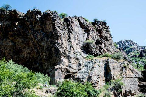 Monastic cells above Geghard Monastery, Armenia