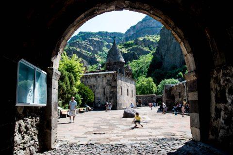 Entrance, Geghard Monastery, Armenia