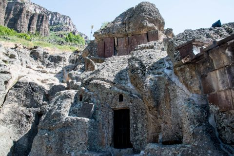 Chapels in rock, Geghard Monastery, Armenia