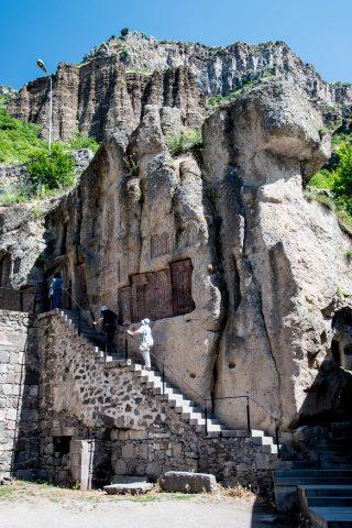 Surp Astvatsatsin, Geghard Monastery, Armenia - steps to monks c