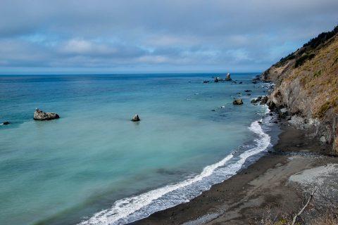 Coast north of Westport, California