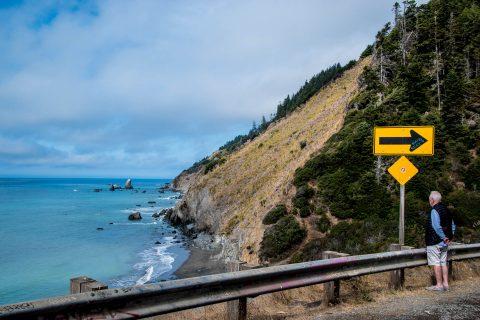 Highway 1, north of Westport, California
