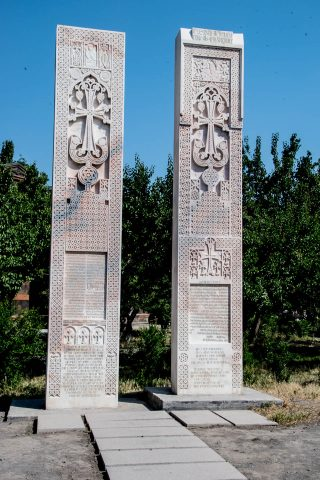 Khachkars, Echmiadzin, Armenia