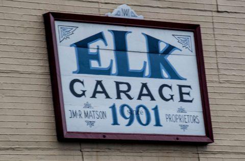 Garage sign, Elk, California