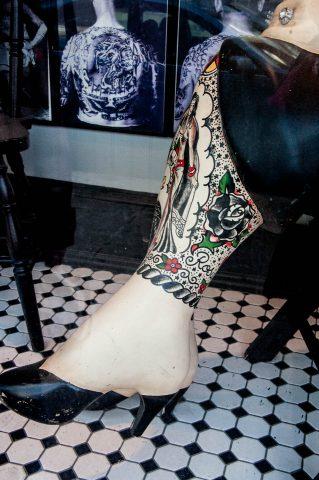 Tattooed model, Philadelphia