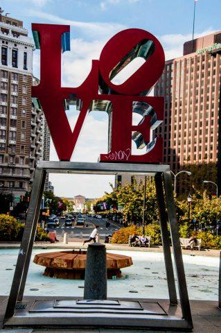 LOVE artwork (R Indiana), JFK Plaza, Philadelphia