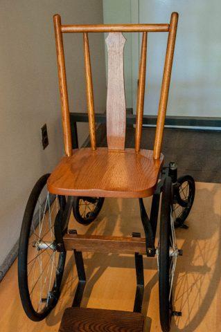 FDR's wheelchair, FRD Memorial, Washington DC