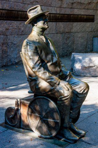 FDR wheelchair statue, FRD Memorial, Wahington DC