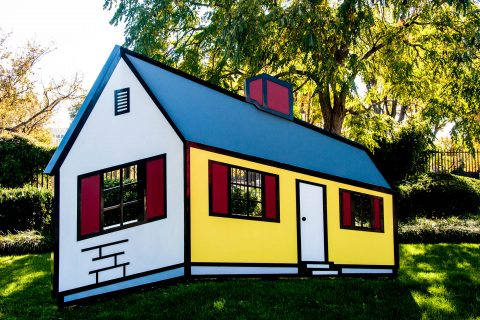 R Lichtenstein in National Sculpture Garden, Washington DC