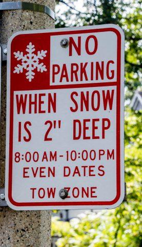 Road signs, Oak Park, Chicago
