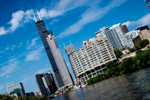 Willis Tower from Chicago River, Chicago
