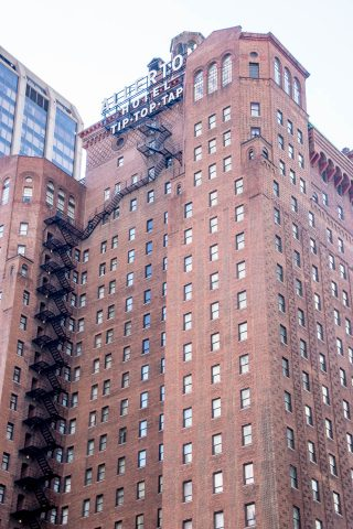 Scary hotel fire escape, Chicago