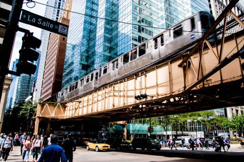 Downtown overhead rail system, Chicago