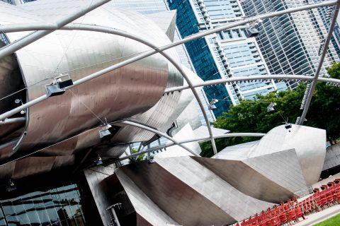 Jay Pritzker concert pavilion by F Gehry, Chicago
