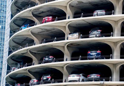 Car parking Marina City, Chicaco