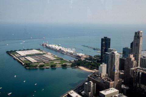 Navy Pier from John Hancock Centre, Chicago