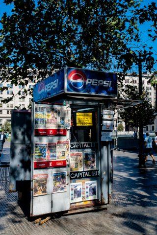 News kiosk, Santiago, Chile