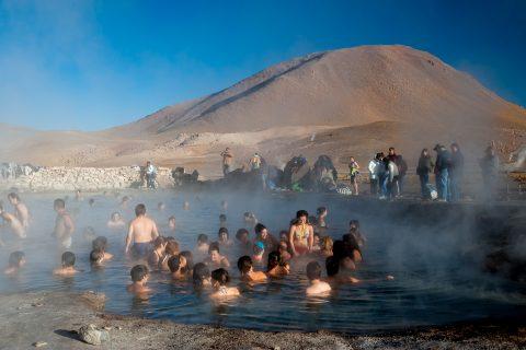 El Tatio Geysers, - bathers - Chile