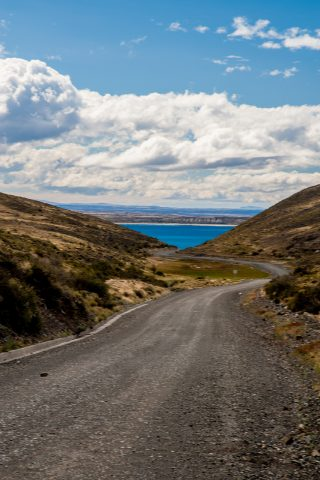 Typical road, Torres del Paine National Park, Chile