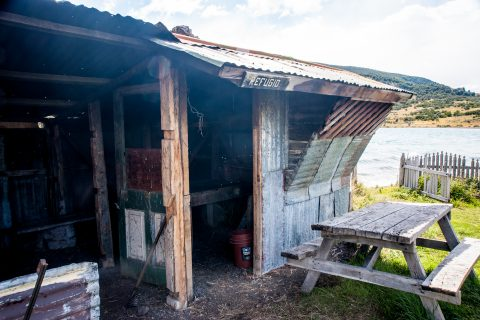Refuge hut, Laguna Azul, Torres del Paine National Park, Chile