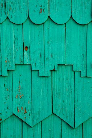 Wood-shingled house, Chacao, Chiloe, Chile