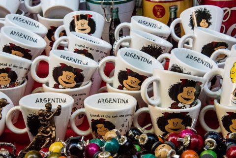 Mafalda mugs, Buenos Aires, Argentina