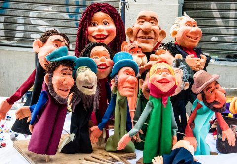 Puppets in market, Buenos Aires, Argentina