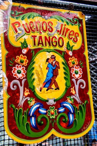 Tango sign, Buenos Aires, Argentina