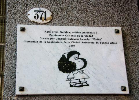 Mafalda sign, Buenos Aires, Argentina