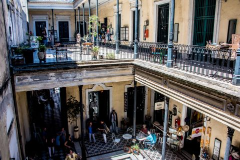 Inner courtyards of mansion, Calle Defensa, Buenos Aires, Argent