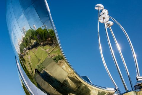 Floralis Generica by E Catalano, Buenos Aires, Argentina